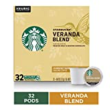 Starbucks Veranda Blend Blonde Roast Single Cup Coffee for Keurig Brewers, 1 box of 32 (32 total K-Cup pods)