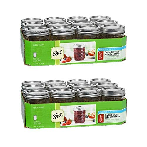 Ball Half-Pint 8 Oz. Glass Mason Jars with Lids and Bands