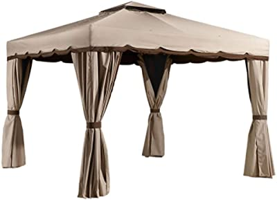 Sojag 10' x 10' Roma Soft Top Roof Gazebo Outdoor Sun Shelter, Beige