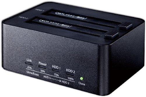 玄人志向 SSD/HDDスタンド 2.5型&3.5型対応 USB3.0接続 PCレスでクローン/HDD内データを2台同時に完全消去可能 KURO-DACHI/CLONE+ERASE/U3