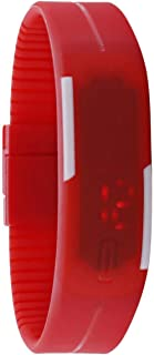 Unisex Red Dial Silicone Band Sport Watch - Digi-8-Red