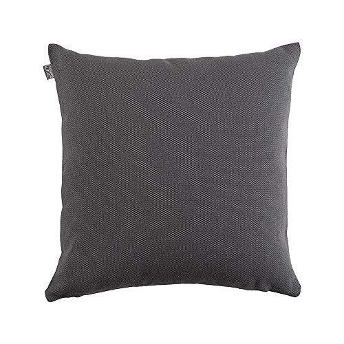 Linum Pepper Eleganter Kissenbezug für Dekokissen 50cm x 50cm, 100% Baumwolle, Maschinenwaschbar, Granitgrau