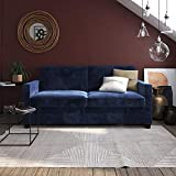 DHP Casey Sofa Sleeper with Memory Foam Mattress, Blue...