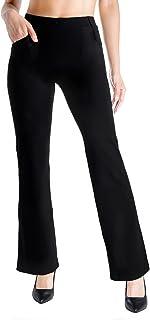 Yogipace,Belt Loops,Women's Petite/Regular/Tall Bootcut Dress Yoga Work Pants