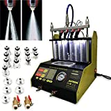 Autool 6/4 Cylinder Car Auto Ultrasonic Injector Cleaning Tester machine 110V Support Moto...