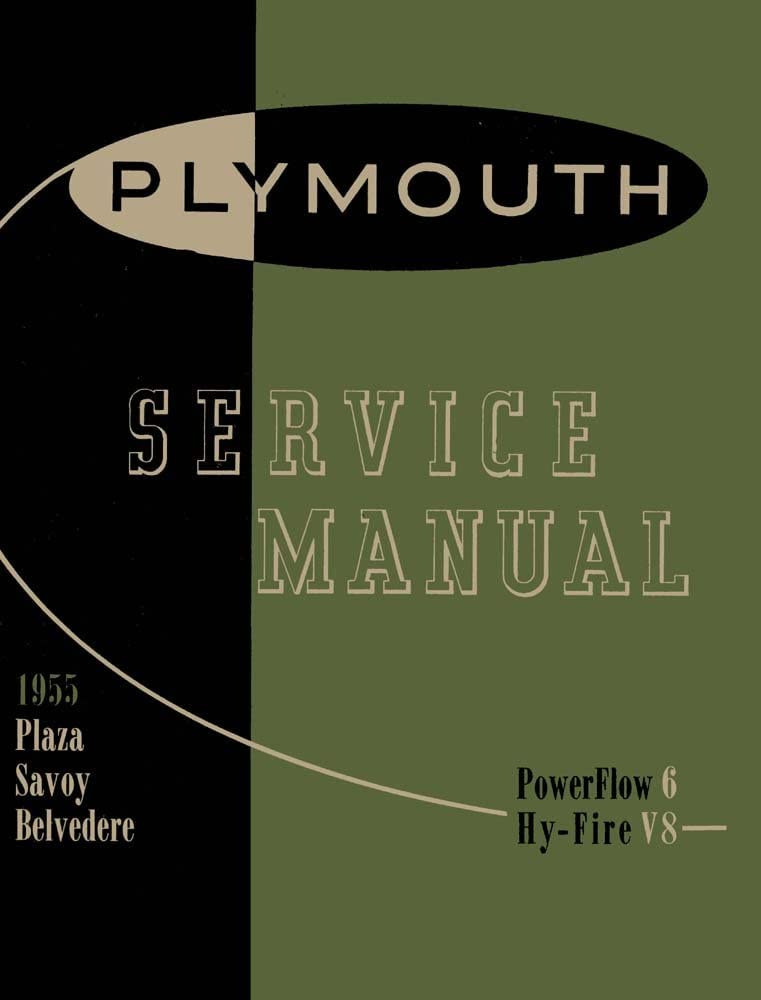 1955 Plymouth Shop Service Repair 流行 スーパーSALE セール期間限定 Drivetrain Manual Book Engine