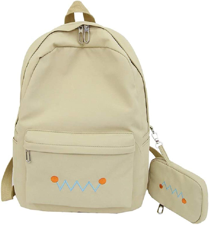 Qiusa Schultaschen Schulrucksack Jungen Schulranzen mit 2 2 2 Teiliges Canvas Rucksack Mädchen Schultaschen-Sets (Farbe   Gelb) B07G5QCCJ5 | Viele Stile  02a940