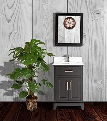 Vanity Art 24-Inch Single Sink Bathroom Vanity Set with White Phoenix Stone -