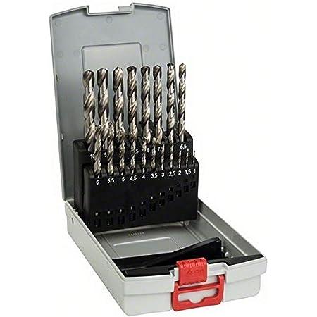 Bosch Professional 19pièces Jeu de forets à métaux ProBox HSS-G (rectifié, accessoires de perceuse-visseuse et de support de perçage)