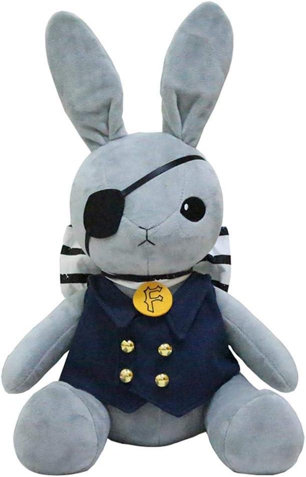 Black Butler Ciel Phantomhive Gray Rabbit Columbus Mall gift Plush Figure Doll Toy
