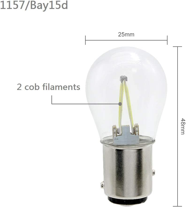 LED Car Tail Brake Light Bulbs Parking Filament Auto New Challenge the lowest price of Japan York Mall Lam COB 12V