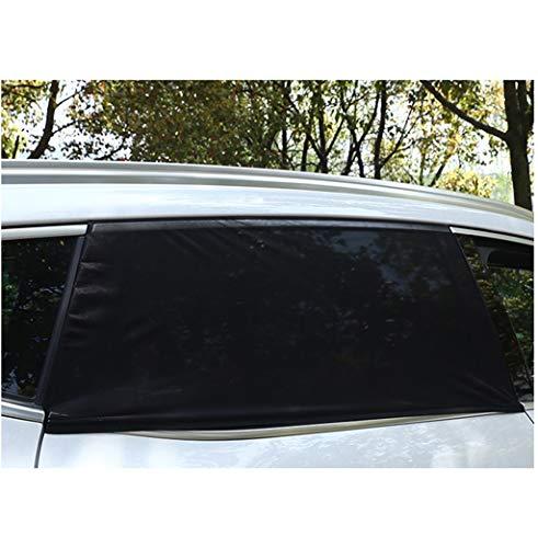 Sun-Feng Auto-gordijnen in de open lucht, achterste raam-zonwering, lichte, blokkerende gordijnen, anti-muggengaas, zwart, breatbaar, 2 stuks