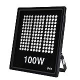 Ankishi Focos LED Exterior 100W, Proyector Reflector de Pared 10000LM 3200K,flood light IP67 Impermeable, Iluminación Exterior de jardín, patio, plaza, cartelera(Blanco cálido)