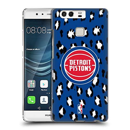 Head Case Designs Oficial NBA Estampado de Animales de Leopardo Detroit Pistones 3 Carcasa rígida Compatible con Huawei P9