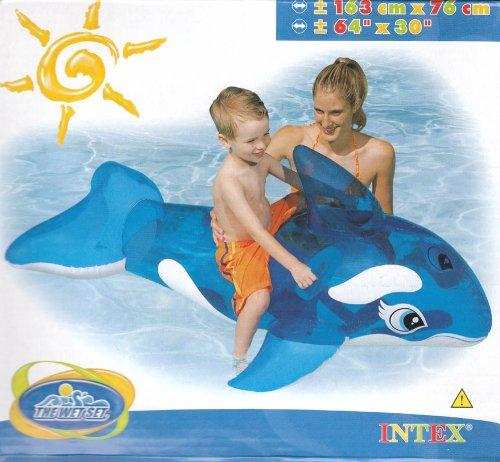 Intex 58523NP aufblasbares Wasserspielzeug Schwimmtier Wal Orca 163 cm