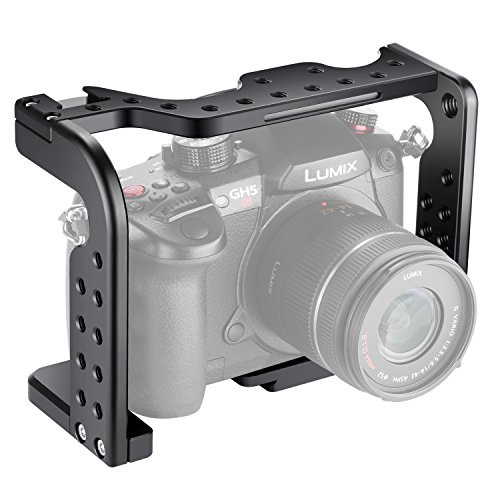 Neewer Camera Video Cage for Film Movie Making Compatible with Panasonic Lumix GH5/GH5S Camera, Aluminum Alloy (Black)