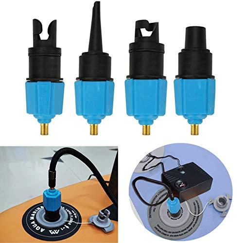 Fansjoy Sup Ventil Adapter, Kanu Kajak Pumpe Luft Ventil Adapter für Stand up Paddle Board Aufblasbar Zubehör Luft Kompressor Adapter SUP Board Schlauchboot Auto Bett(Blau)