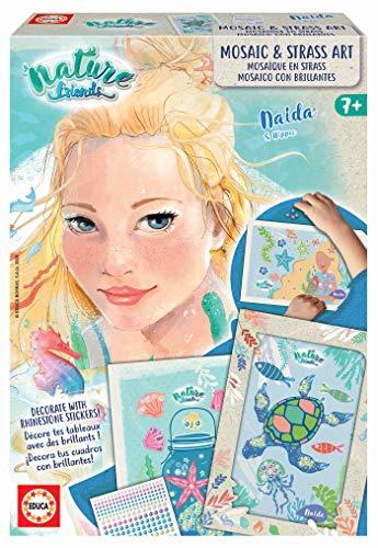 Educa - Nature Friends Manualidades Mosaicos Naida, Incluye 6 Cuadros, 2 Hojas, 2 Marcos Brillantes, a Partir de 7 años (18935)
