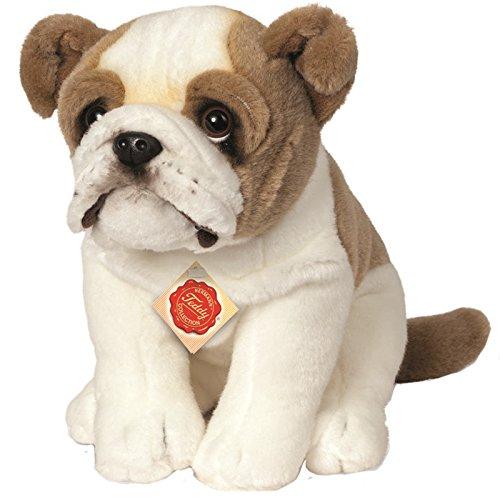 Hermann Teddy Collection 919315 - Plüsch-Englische Bulldogge sitzend, 27 cm