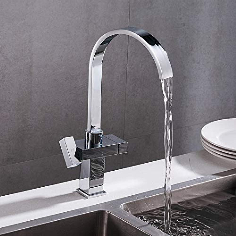 Mzdpp Neue Ankunft Dual Halter Einlochmontage Küchenarmatur Deck Montiert Heies Und Kaltes Wasser Mischbatterie Kitchen Sink Mixer