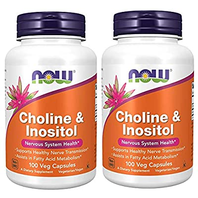 NOW Foods Choline and Inositol, 100 Capsules / 500mg
