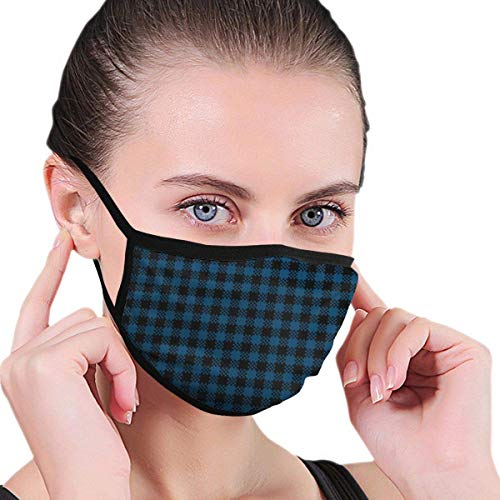 Mondmaskers check patroon herbruikbare print in de buitenlucht oorloop headwear Face Covers wasbare bivakmuts mode multifunctioneel werk fietsen kleurrijke winter