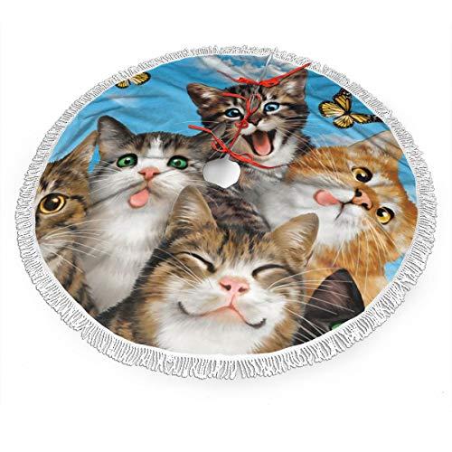 FUNINDIY Weihnachtsbaum-Rock mit Katzen...