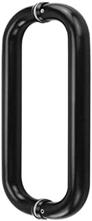 Alise 10-Inch Double Shower Glass Door Handle Pull Set With Washers,Tubular Back-to-Back,SUS304 Stainless Steel Matte Black