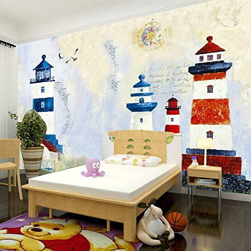 Abihua Mural Para Habitación InfantilPapel TapizPersonalizadoMurales Faro Sala De Estar Dormitorio Tv Telón De Fondo Papel De Pared Decoración Para El Hogar Decoraciones