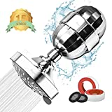 Powbacksy Shower Head Filter for Hard Water - 15 Stage Shower Filters to