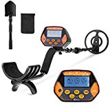 Metal Detector, High Accuracy Waterproof Metal Detectors with LCD Display & LED Light, Disc & All Metal Mode 8.7 Inch Search Coil for Adults & Kids, Great for Detecting Gold, Coin, Treasure Hunting