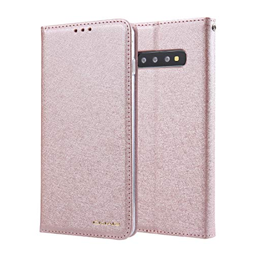 JIAHENG Phone Case Silk Pattern Wallet Phone Case for Samsung Galaxy S10 Plus || Leather Card Case Wallet with Handy Stand Feature Flip Phone Case [PU Shockproof Interior Case] PU Leather Cover S