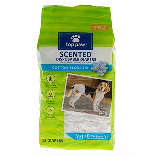 Top Paw Scented Disposable Dog Diapers - Medium