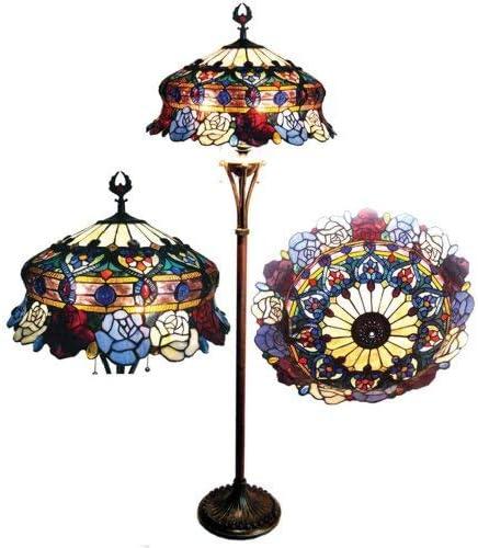 Chloe Lighting Brand new 2021new shipping free shipping CH20B547-FL3 Tiffany-Style 3-Light Floor Roses La