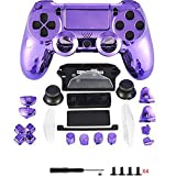 Canamite® Case Hülle Gehäuse Chrome Modding Cover Shell für Playstation PS4 DualShock 4 Controller (Lila)