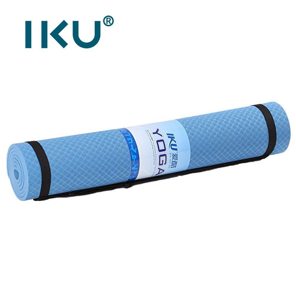 IKUピュアtpe 80 CMヨガマット8MM肥厚ビギナー環境に優しい無味滑り止めヨガマットロング男性腹筋運動エクササイズフィットネスマット183 cm * 80 cm * 8 mmバックパック+ストラップを送信