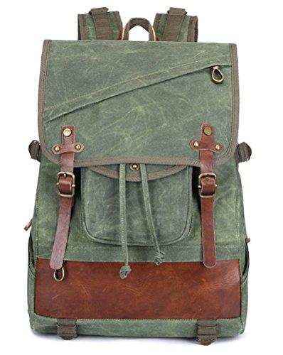 beibao shop Backpack Sacs à Dos pour Ordinateur Portable Homme Imperméable Toile Épaule Grande capacité Extérieur Escalade Multi-Fonctionnel Sac à Dos d'ordinateur, Green