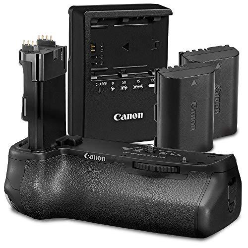 Canon BG-E21 - Empuñadura de batería para cámara réflex Digital EOS 6D Mark II con 2 baterías LP-E6N + Cargador LC-E6 y Kit de Limpieza de Fotos