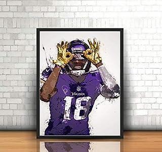 Fan art poster Sports Poster,Fan art,Wall Art,Sports art Stefon Diggs Minnesota Vikings Poster,Wall art Sports Print,Kids Decor,Man Cave