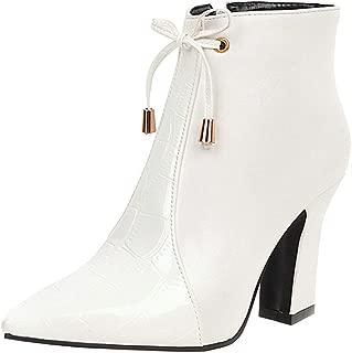 ELEEMEE Women Chunky Heels Western Bootie