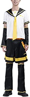 Ilovcomic Men's Vocaloid Cosplay Kagamine Len 2nd White Costume Outfit