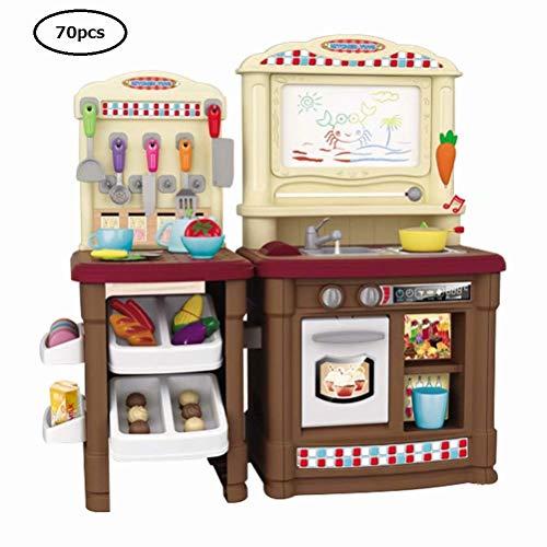 おままごと 70点セット キッチンセット 豪華セット 収納可能 食べ物付き ごっこ遊び 親子遊び 食器 野菜 組...