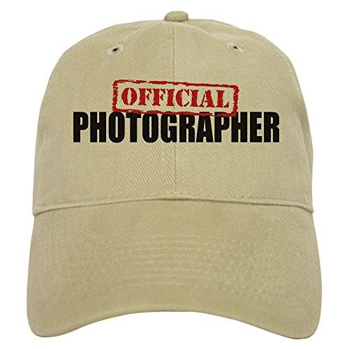 CafePress Official Photographer Baseball Cap with Adjustable Closure, Unique Printed Baseball Hat Khaki
