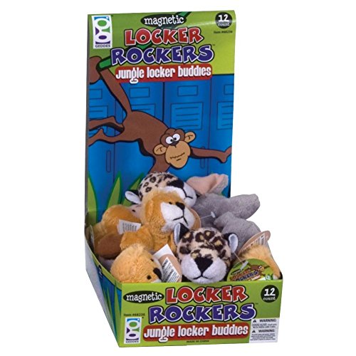 Raymond Geddes Jungle Locker Buddies Plush Magnet, 12 Pack (68236)