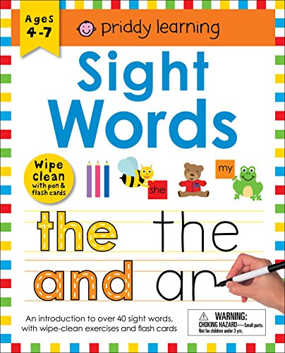 Wipe Clean Workbook: Sight Words (enclosed spiral binding): Ages 4-7; wipe-clean with pen & flash cards (Wipe Clean Learning Books)