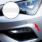 Autodomy Protector Bumper Parachoques Paragolpes Delantero y Trasero Universal Adhesivo Pack 2 Unidades para Coche (Transparente)