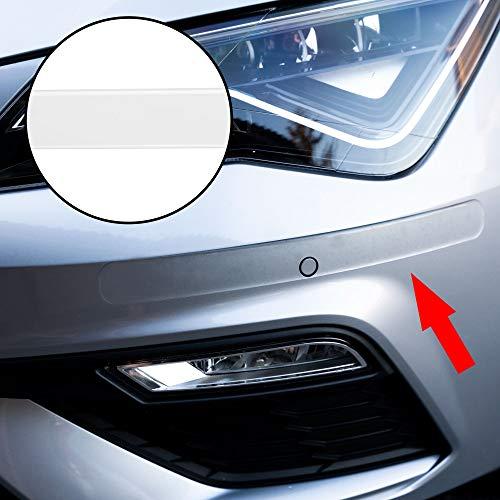 Autodomy Bumper Protezione Paraurti Posteriore Anteriore Anticollisione Adesivo 2 Pezzi per Auto Colore (Trasparente)