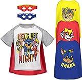 Nickelodeon Paw Patrol Toddler Boys Short Sleeve T-Shirt Cape & Mask Set 4T White