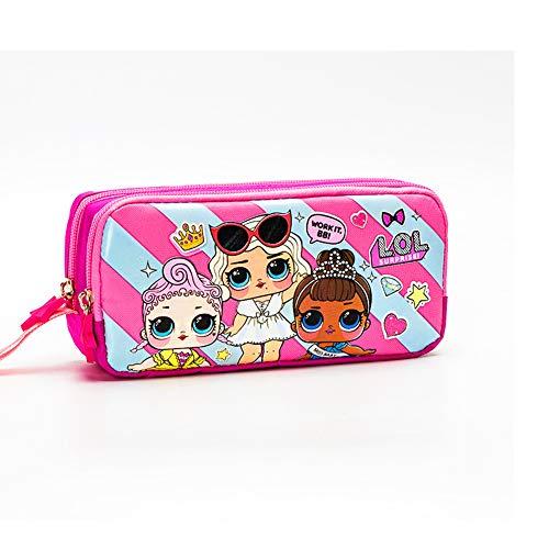 Fille surprise LOL Astuccio Portapenne LOL Astuccio Kids Pencil Case Portapenne Cosmetic Bag Storage Sacco Per Bambini Adolescenti Ragazzi Bambini Casa Ufficio Scuola