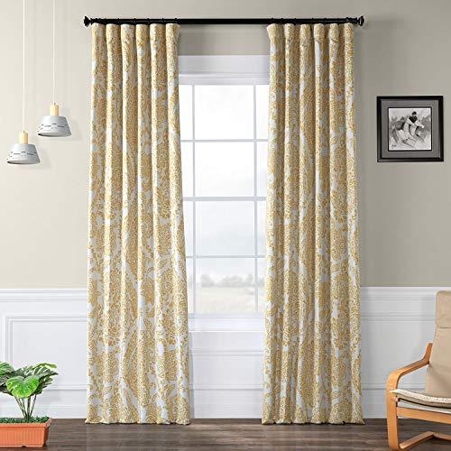 Half Price Drapes Boch-KC16072C-96 Blackout Curtain, 50 x 96, Tea Time Yellow Gold